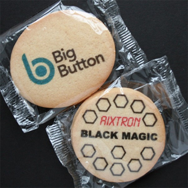 Logo Cookies, Not Iced, Round or Oval, Flow Wrapped