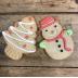 Decorated Snowman & Tree x 25