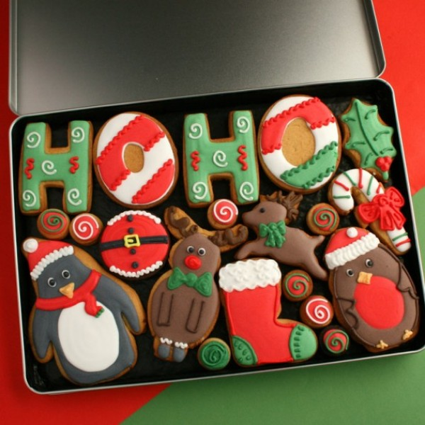 Large Ho Ho Cookie Gift Tin