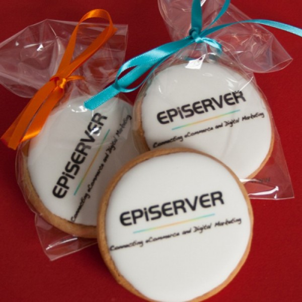 Logo Cookies - Round or Oval, Ribboned
