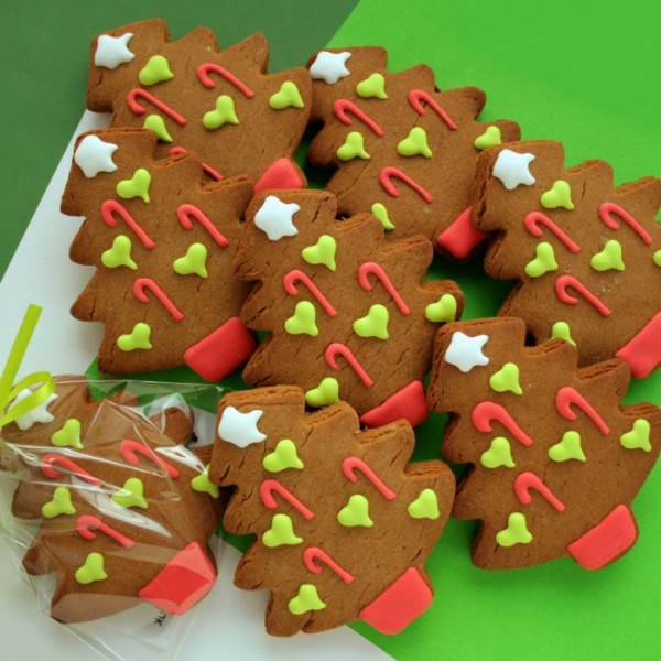 Seasonal Corporate Christmas Tree Cookies