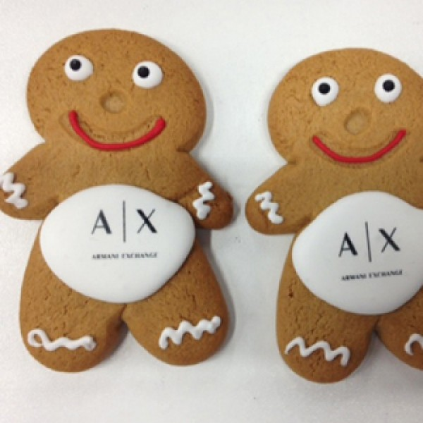 Seasonal Corporate Gingerbread-man Cookies