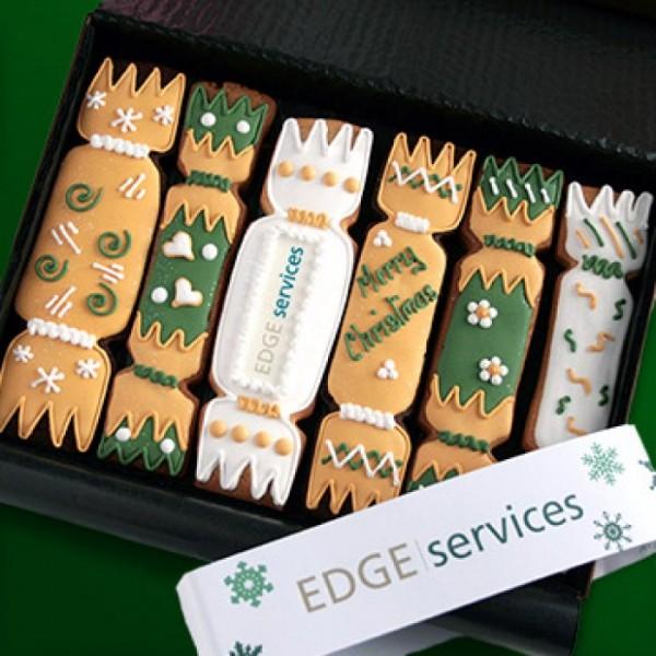 Seasonal Christmas Cracker shaped cookies