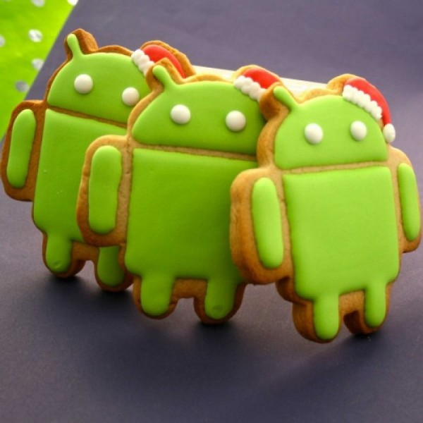Seasonal Android Corporate Cookies