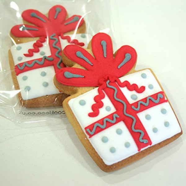 Seasonal Corporate Xmas Present Cookie