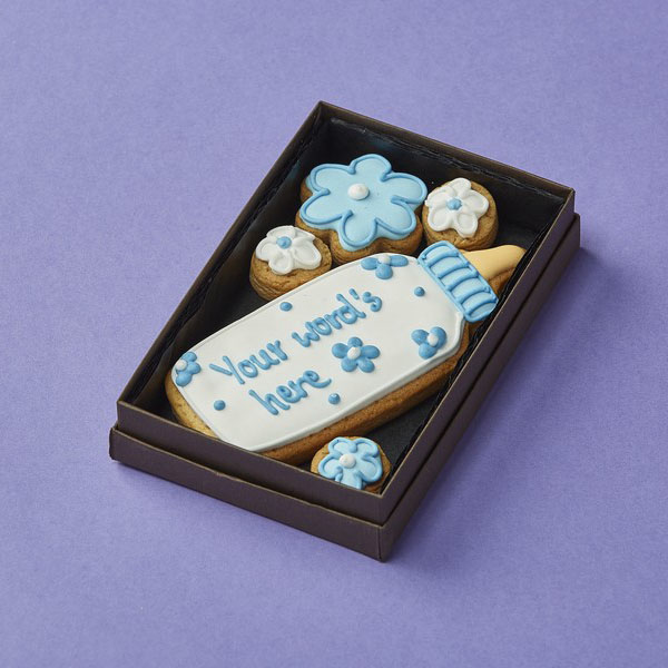Cookie Card: Personalised Baby's Bottle's