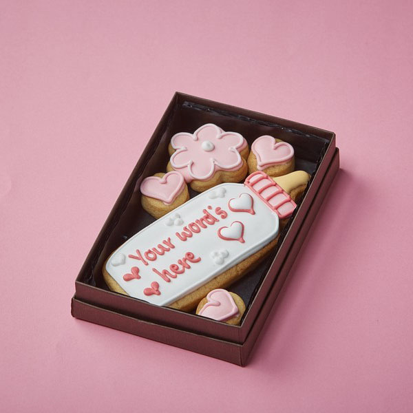 Cookie Card: Personalised Baby's Bottle