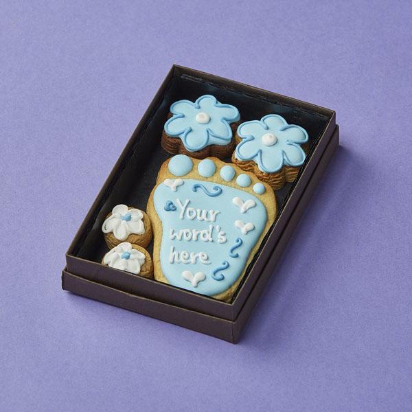 Cookie Card: Personalised Baby's Foot