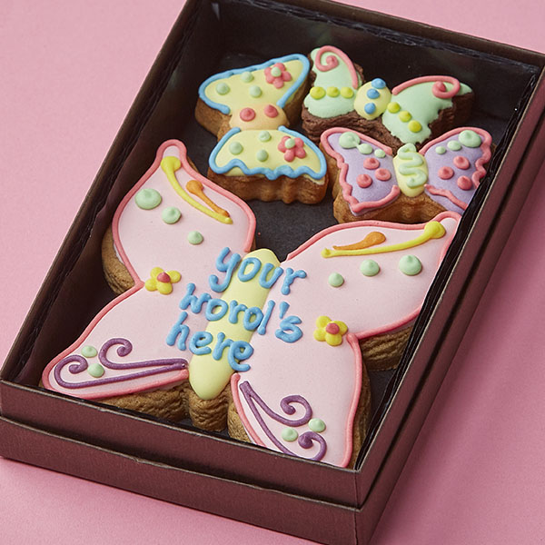 Cookie Card: Personalised Butterfly