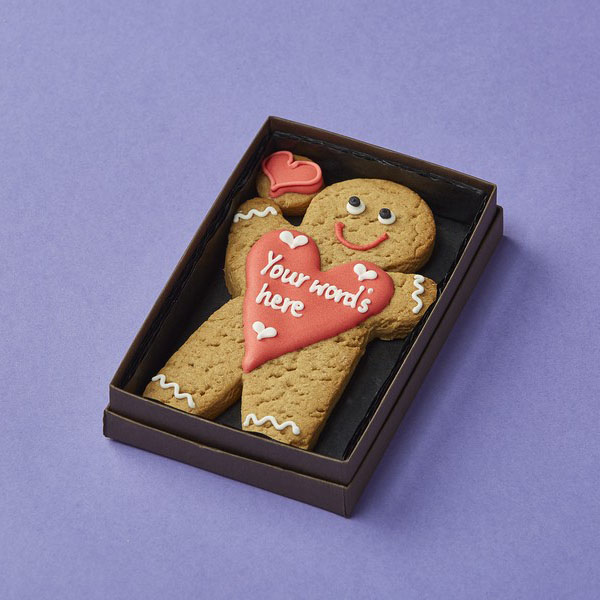 Cookie Card: Personalised Gingerbread Man