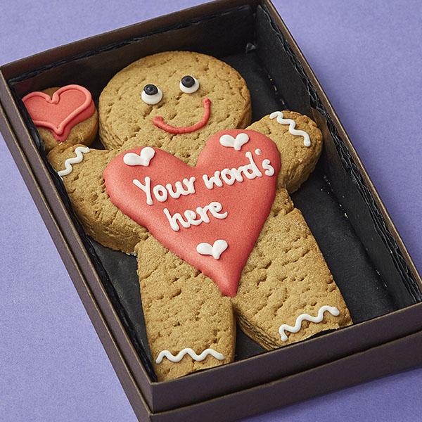 Cookie Card: Personalised Gingerbread Man