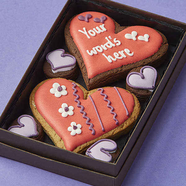Cookie Card: Personalised Heart Cookies