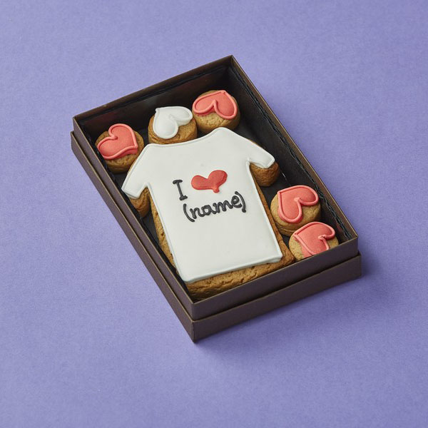 Cookie Card: Personalised 'I ♥ T Shirt'