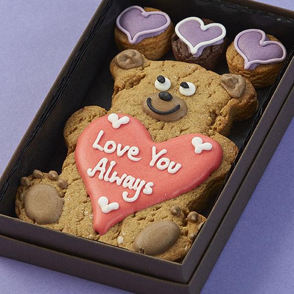 Personalised Teddy Bear Cookie Card