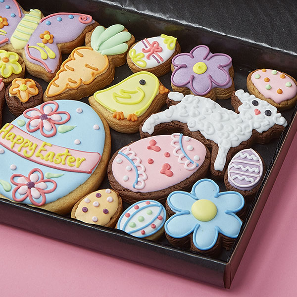 Medium Easter Variety Cookie Gift Box