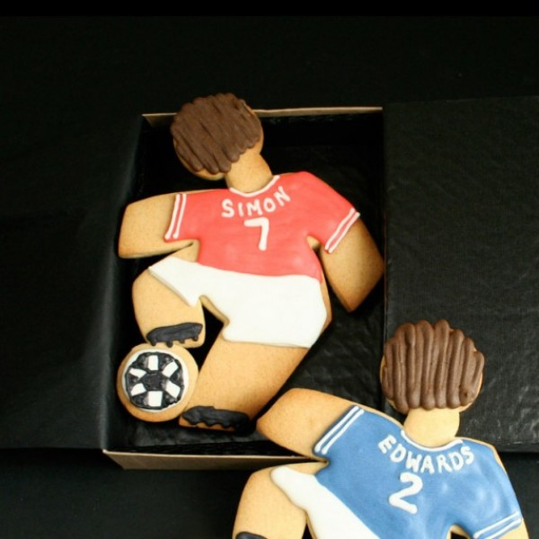 Small Cookie Gift Box: Giant Footballer Cookie