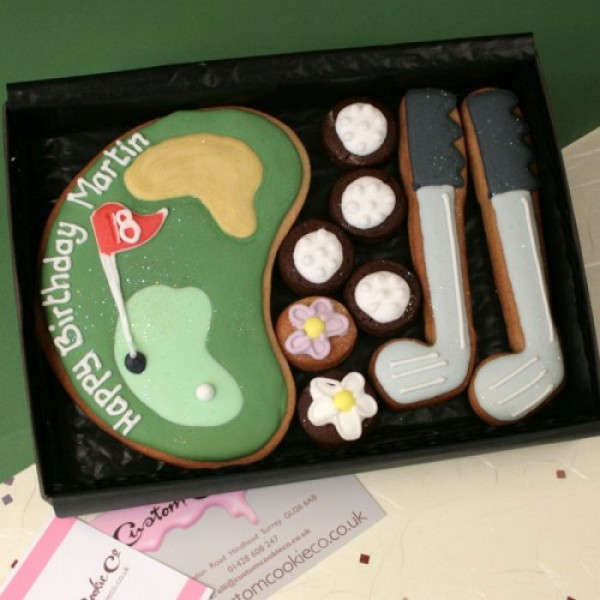 Small Golf Course cookie gift box