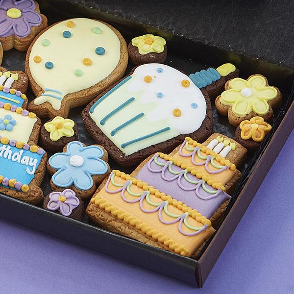 Medium Happy Birthday Gift Box, Blue