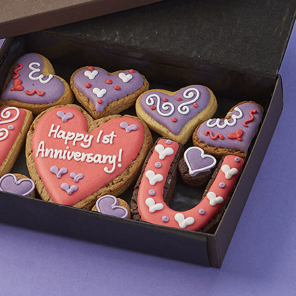 Small 'I ♥ U' Cookie Gift Box