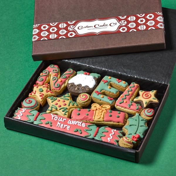 Medium NOEL Christmas Cookie Gift Box