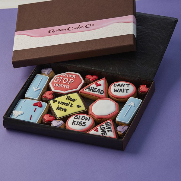 Medium Road Signs Cookie Gift Box