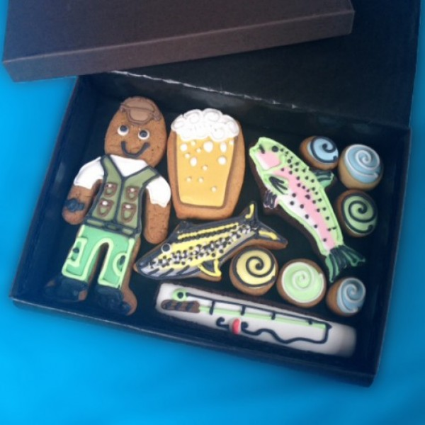 Small Fishing Cookie Gift Box