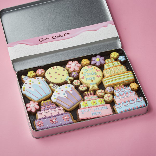 Large Birthday Cookie Gift Tin