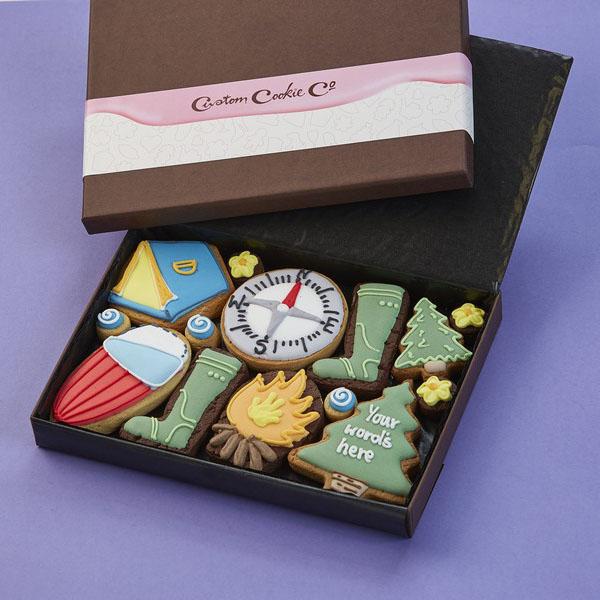 Medium Camping Cookie Gift Box