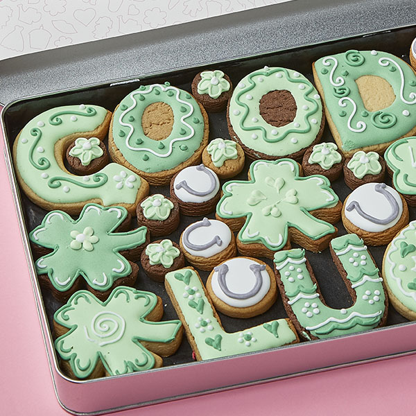 Large Good Luck Cookie Gift Tin