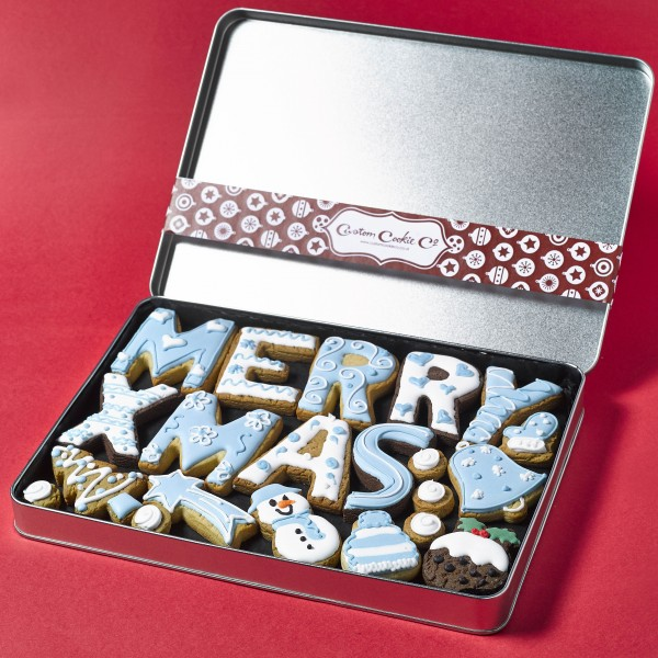 Large Merry Christmas Tin (Personalised)