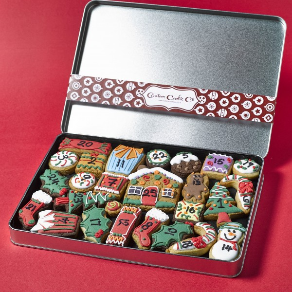 Large Advent Cookie Gift Tin