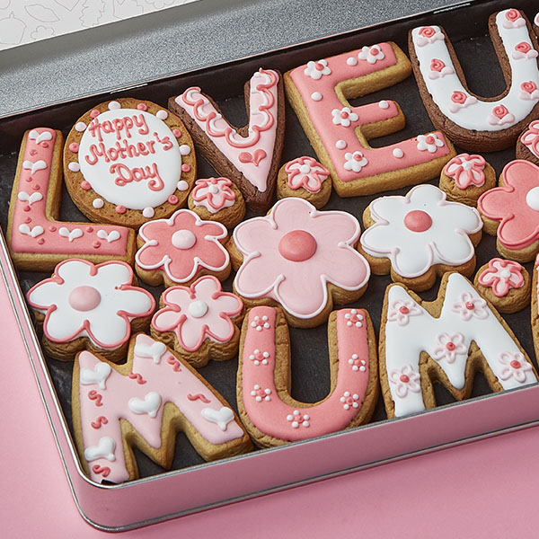 Large LOVE U MUMMY Cookie Gift Tin