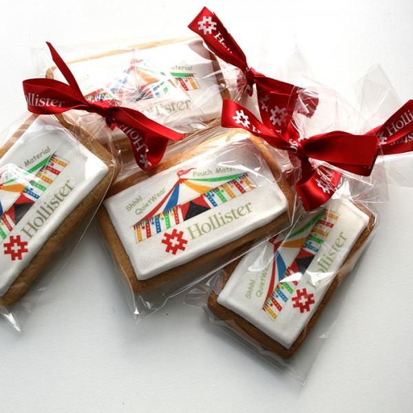 Logo Cookies - Square or Rectangular, Ribboned