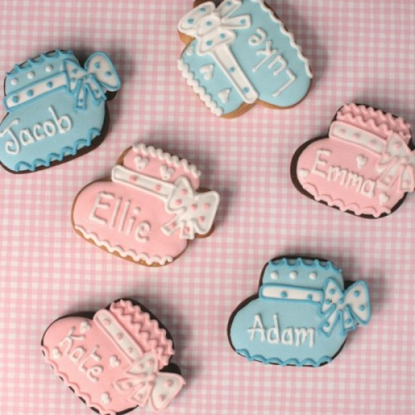 Personalised Baby Bootie Cookies