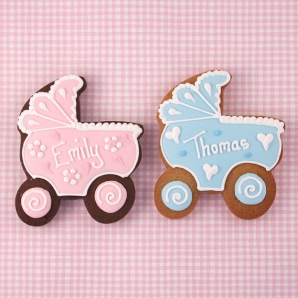 Personalised Baby's Pram Cookies