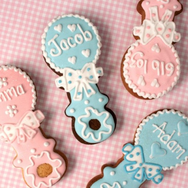 Personalised Baby's Rattle Cookies