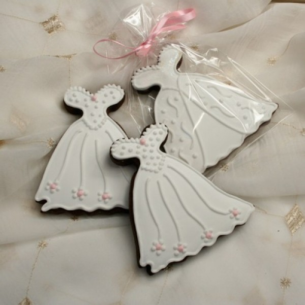 Large Wedding Dress Cookie Favour