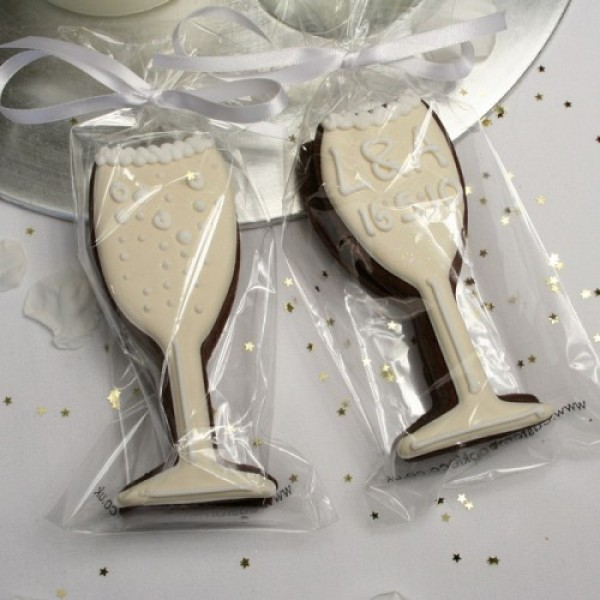 Champagne Glass Cookie Favour or Gift