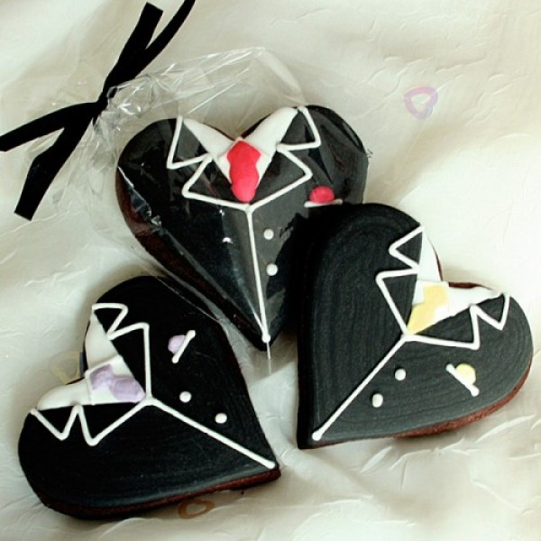 Heart Groom Cookie Favour or Gift