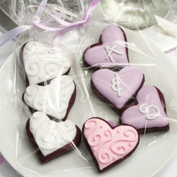 Decorated or Personalised Mini Heart Cookies