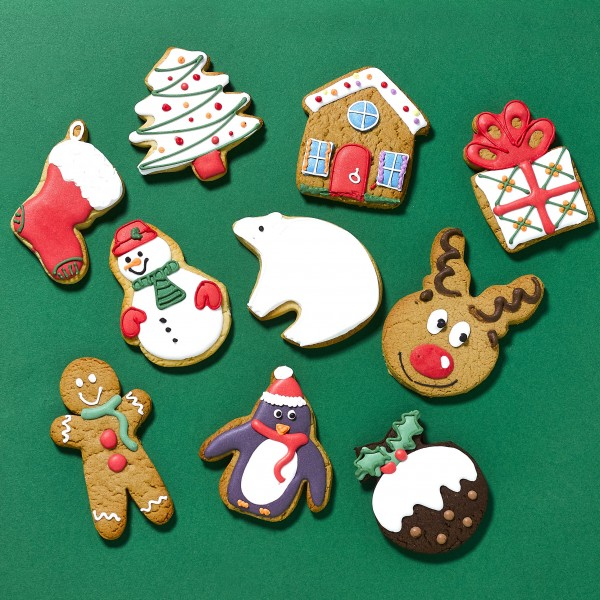 10 Personalised Christmas Favour Cookies